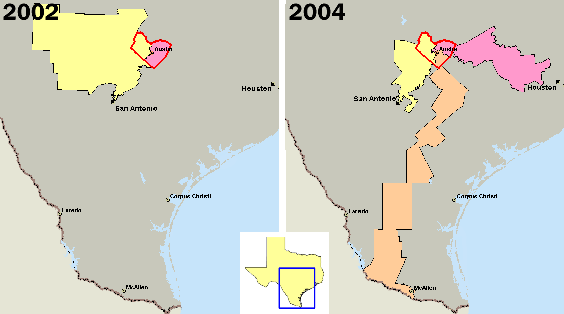 Drawing of texas districts has become take a closer look at austin