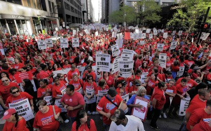 Teachers come together to protest in the largest teacher strike of our generation.